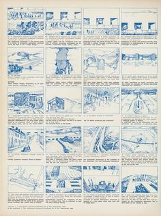"""STORY_DRAW_Superstudio, Story board for the film on the Continuous Monument, """"Casabella"""" Magazine Monumental Architecture, Architecture Drawings, Cedric Price, Animation Storyboard, Storyboard Film, Conceptual Drawing, Architect Drawing, Graphic Illustration, Story Board"""