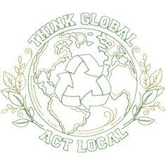 Think Global Act Local Jumbo #NB886_48