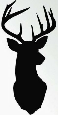 or if you are afraid of hand painting you could use an x acto knife rh pinterest com Large Deer Heads Silhouettes Whitetail Deer Head Silhouette