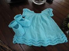 Labores de siempre: Vestido Bebé en algodón Knitting Patterns, Crochet Patterns, Girls Dresses, Summer Dresses, Knitting For Kids, Baby Crafts, Lace Shorts, Dress Skirt, Knit Crochet