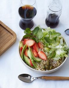 Salade de quinoa sucrée-salée