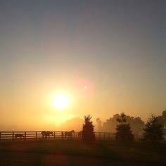 Beautiful sunrise on a Kentucky farm.
