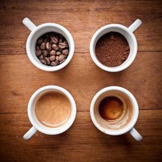 All the phases of coffee...YUM :)