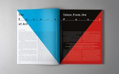 54 Fantastic and Modern Magazine Design Layouts to Inspire you! this is a very good example of text being readable over color filled pages. doesnt look very interesting but is clear and fluent.