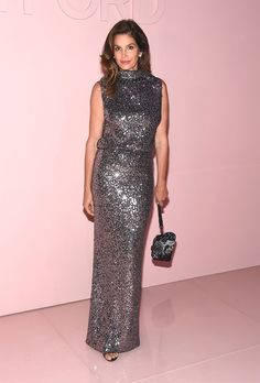 Cindy Crawford In Tom Ford - At Tom Ford's Spring 2018 show