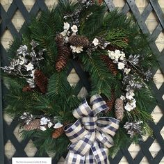 We decorated and donated this wreath for the displays at Eastman House. Grossmans has a custom greens department specializing in wreaths porch pots kissing balls & more!! #PenfieldNY #HolidayDecor #Wreath