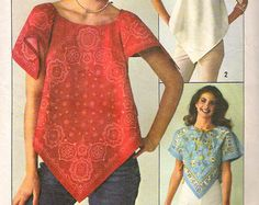 Simplicity 7877 Scarf Bandana Top Sewing Pattern one size Bandana Dress, Bandana Top, Bandana Styles, Diy Clothing, Sewing Clothes, Bandana Crafts, Bandana Design, Diy Shirt, Refashion