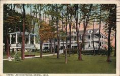 Casino, Lake Compounce, Bristol, Connecticut, CT Postcard