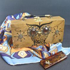 Enid Collins Night Owl box purse