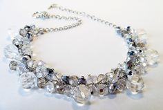 Beaded Crystal Necklace   Beaded glass beads and by Eienblue, $30.00