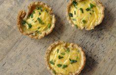 Receita passo a passo: Mini tortinhas de queijo em 6 etapas