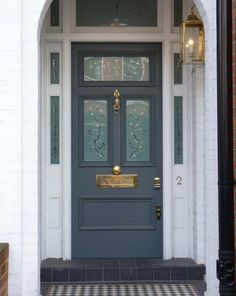 A brass effect Magflap would compliment the look of this stunning Edwardian door!
