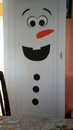 Puerta decorada: