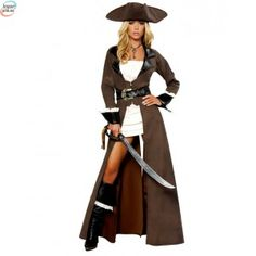 The Womens Sexy Deluxe Pirate Captain Costume is the best 2019 Halloween costume for you to get! Everyone will love this Womens costume that you picked up from Wholesale Halloween Costumes! Costume Halloween, Sexy Pirate Costume, Pirate Dress, Halloween Fancy Dress, Pirate Costumes, Adult Halloween, Pirate Jacket, Women Halloween, Halloween Party