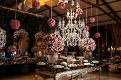 Festa de luxo - lustre de cristal para festa