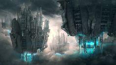 http://adamkuczek.cgsociety.org/art/scifi-photoshop-sci-fi-maya-concept-art-steampunk-cyberpunk-vista-city-environment-anno-domini-3527-2d-1139403