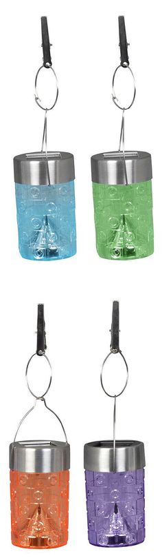 These plastic lights have a color-changing LED in each that automatically light up at night. The LED bulbs will never need to be replaced and will remain cool to the touch. These solar lights gather energy from the sun during the day, and then automatically come on at dusk to provide outdoor lighting exactly where you want it.