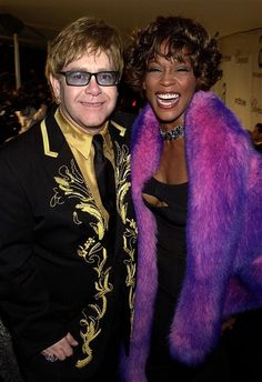 Elton John with Whitney Houston