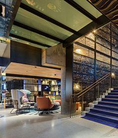 QT Melbourne's lobby