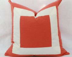 Orange Pillows by Maria on Etsy