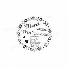 tampon merci Maîtresse Tampon Scrapbooking, Etiquette Vintage, Silhouette Portrait, Cricut, Joy, Illustrations, Couture, Boutique, Image