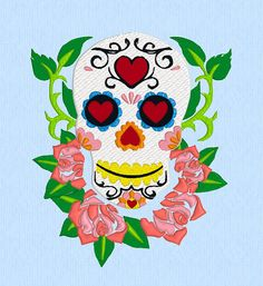 Hey, I found this really awesome Etsy listing at https://www.etsy.com/listing/184825946/sugar-skull-machine-embroidery-design