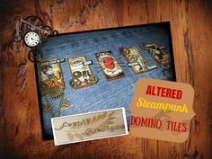 Altered steampunk domino tiles - Fernli Designs DT project