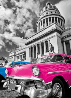 kecoci Diamond Painting red car Cityscape Digital Painting Full Round Diamond Home Decoration Christmas Gifts - Splash Photography, Color Photography, Old American Cars, Puzzles, 3d Home, Paint By Number Kits, Paint Set, Black And White Colour, Automobile