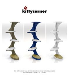 Catemporary Cat Tower by Stacy Tao at Coroflot.com #cats #CatTrees #CatTowers
