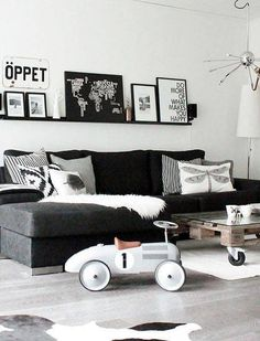 23 monochrome living rooms that don't even NEED color on domino.com