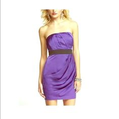 Purple Satin Dress Express Super Chic
