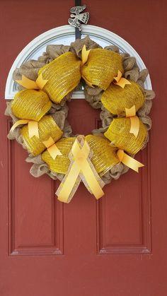 Childhood Cancer Awareness Wreath