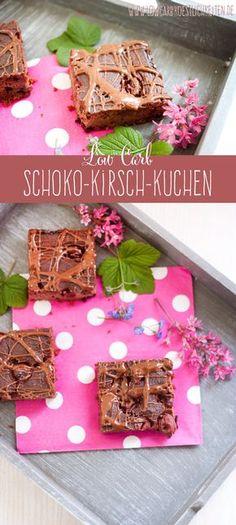 Low Carb Schoko-Kirsch-Kuchen www.lowcarbkoestlichkeiten.de #lowcarb #abnehmen #glutenfrei #zuckerfrei