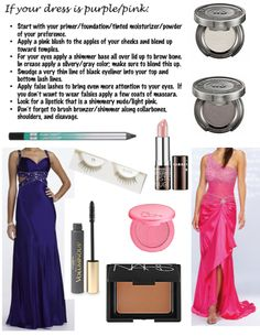 Makeup for a purple/pink dress