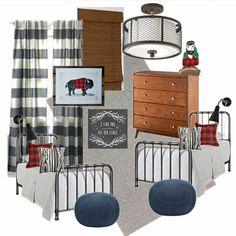 Vintage Modern Paul Bunyan Boys Room