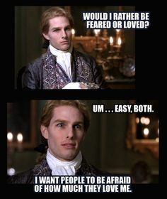 I love this - Two of my favorite things The Office and Lestat de Lioncourt! Anne Rice Vampire Chronicles, Lestat And Louis, Tv Memes, Real Vampires, Interview With The Vampire, Michael Scott, Tom Cruise, The Funny, Funny Shit