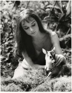 "Audrey Hepburn in Mel Ferrer's film, ""Green Mansions,"" 1959."
