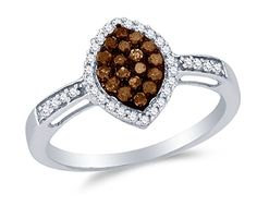 Size 6.75 – 10K White Gold Chocolate Brown & White Round Diamond Halo Circle Engagement Ring – Channel Set Marquise Center Setting Shape (1/3 cttw.)	by Sonia Jewels - See more at: http://blackdiamondgemstone.com/colored-diamonds/jewelry/wedding-anniversary/engagement-rings/size-675-10k-white-gold-chocolate-brown-white-round-diamond-halo-circle-engagement-ring-channel-set-marquise-center-setting-shape-13-cttw-com/#sthash.vxPQtcMP.dpuf