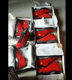 Jordan Retro 14's Ferrari Red FORSALE !!!!