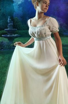 Photos of Truly, Madly, Regency - Book cover art Photos of Truly, Madly, Regency - Book cover art Pretty Outfits, Pretty Dresses, Beautiful Outfits, Vintage Gowns, Vintage Outfits, Vintage Fashion, Regency Dress, Regency Era, Period Outfit