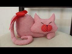 Aprenda a fazer um gatinho de peso de porta, passo - YouTube