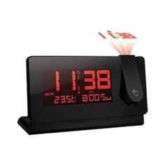 The sleek design of the Slim Projection Clock with Indoor/Outdoor Temperature fits nicely into any room.All the information you need to know to start your day - temperature and time in a sleek design. Easily view the time simply by looking at the ceiling. Digital Clock Radio, Radio Alarm Clock, Best Laptop Computers, Projection Alarm Clock, Digital Projection, Clock Display, Remote Sensing, Time Clock, Best Laptops