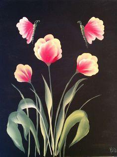 one stroke level 2 tulips - Google Search
