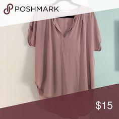 Lush short sleeve top Worn once, longer hem in the back Lush Tops Blouses