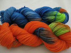 Opposites Attract Yarn by Barking Dog Yarns in the Lucy & Desi colorway.  I have a daughter who would love this as socks.