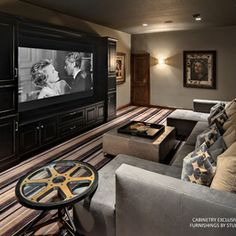 Layout for Basement Media Room. Small Media Room Design Ideas, Pictures, Remodel, and Decor - page 3