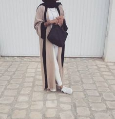 neutral dubai abaya style- Abaya hijab fashion from Dubai http://www.justtrendygirls.com/abaya-hijab-fashion-from-dubai/