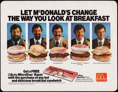 McDonald's Change the Way you Look at Breakfast Gillette Microtrac - 1986