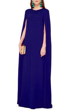 M'O Ramadan Curated Trunkshow: Crystal Embroidered Caftan by Oscar de la Renta   Moda Operandi