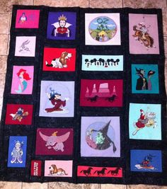 I know I said I'd never make another t-shirt quilt , But... I found all the old cross stitch  t-shirts I made and decided to try it again. Y'all don't know the hours spent on the cross stitch alone. I wound up quilting it with the walking foot, straight stitch one inch apart. Used masking tape as guides. Worked great 45x50 Jenn-Alabama